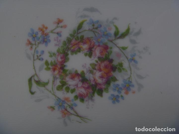 Antigüedades: Gran fuente loza Limoges flores Jean Pouyat JPL ANCIENNE LIMOGES FLEURS PLAT Old Serving plate - Foto 4 - 82342564
