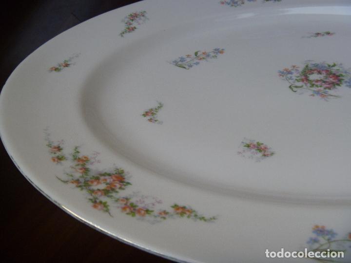 Antigüedades: Gran fuente loza Limoges flores Jean Pouyat JPL ANCIENNE LIMOGES FLEURS PLAT Old Serving plate - Foto 10 - 82342564