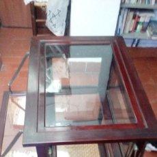 Antigüedades: MESA VITRINA ANTIGUA.. Lote 82379176