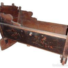 Antigüedades: CUNA DE MADERA DEL S. XIX. Lote 82394171