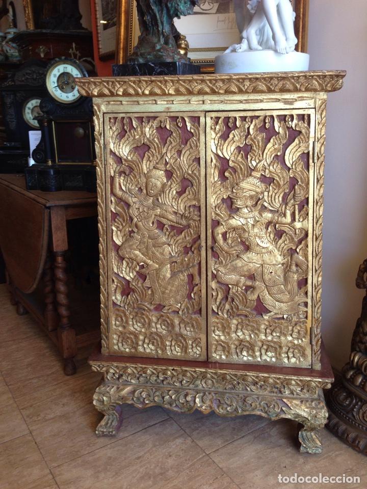 Mueble oriental tallado a mano comprar muebles - Mueble antiguo segunda mano ...