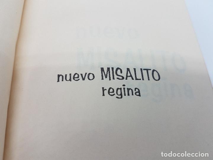 Antigüedades: Libro antiguo religioso de nuevo misalto regina en muy buen estado. - Foto 5 - 82434644