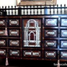 Antigüedades: BARGUEÑO SIGLO 18, CAREY, MARFIL Y MADERA. Lote 82450368
