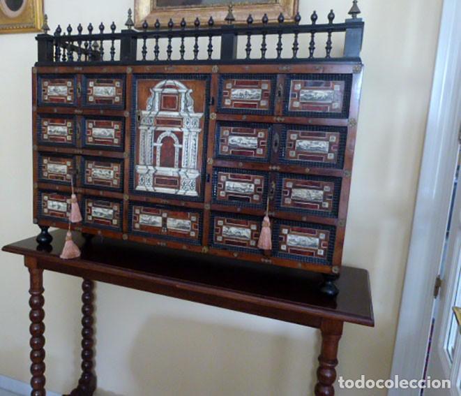 Antigüedades: Bargueño siglo 18, carey, marfil y madera - Foto 2 - 82450368