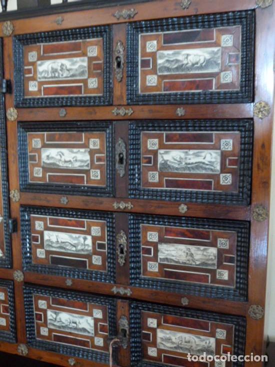 Antigüedades: Bargueño siglo 18, carey, marfil y madera - Foto 3 - 82450368