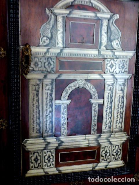 Antigüedades: Bargueño siglo 18, carey, marfil y madera - Foto 4 - 82450368