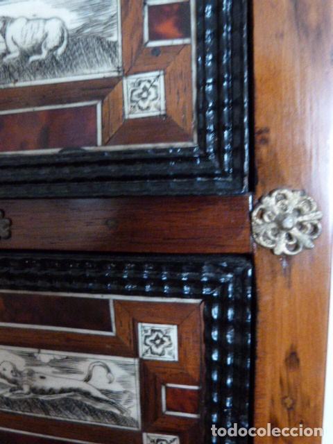 Antigüedades: Bargueño siglo 18, carey, marfil y madera - Foto 6 - 82450368