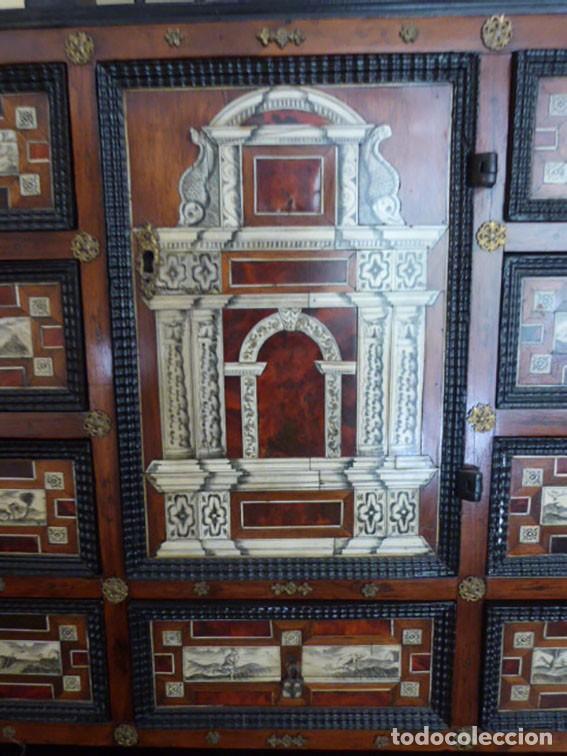 Antigüedades: Bargueño siglo 18, carey, marfil y madera - Foto 8 - 82450368