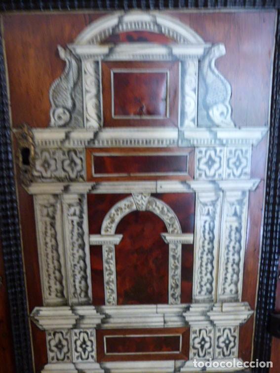 Antigüedades: Bargueño siglo 18, carey, marfil y madera - Foto 9 - 82450368
