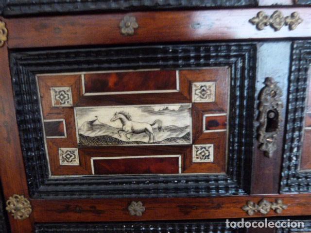 Antigüedades: Bargueño siglo 18, carey, marfil y madera - Foto 10 - 82450368
