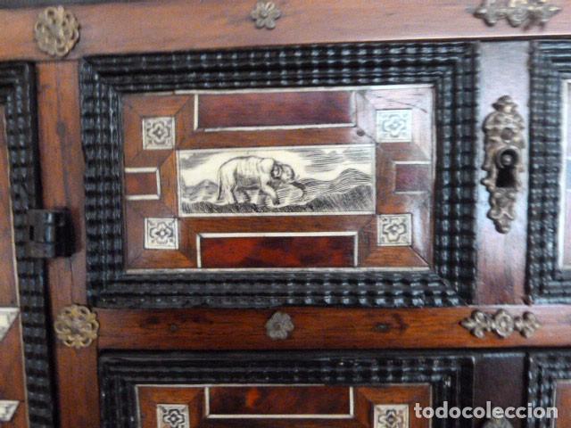 Antigüedades: Bargueño siglo 18, carey, marfil y madera - Foto 11 - 82450368