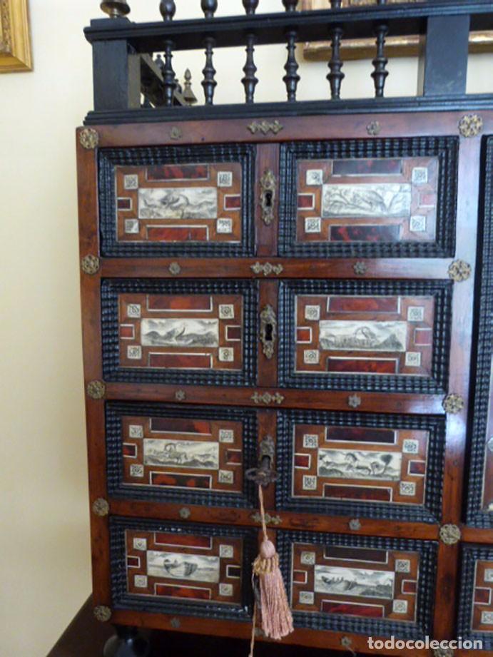 Antigüedades: Bargueño siglo 18, carey, marfil y madera - Foto 13 - 82450368