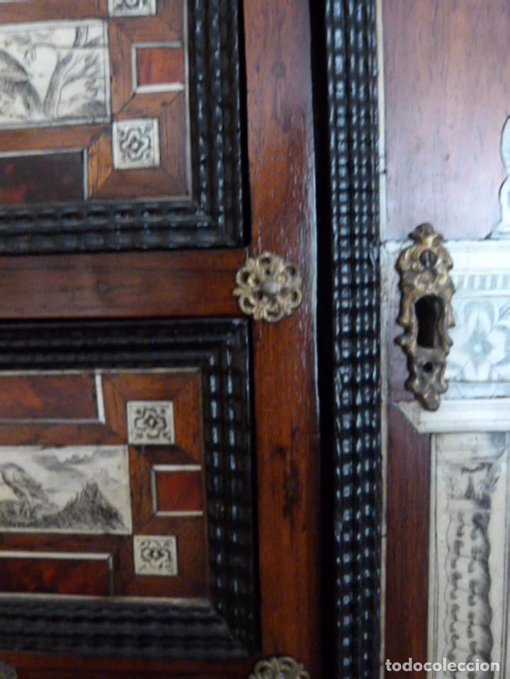 Antigüedades: Bargueño siglo 18, carey, marfil y madera - Foto 20 - 82450368