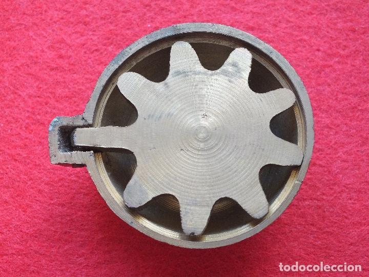 antiguo tapon valvula desage en bronce para pilas fregaderos piedra baera marmol a estrenar
