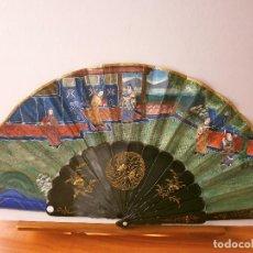 Antigüedades: ABANICO CHINO MEDIOPERICON MIL CARAS. Lote 82477600