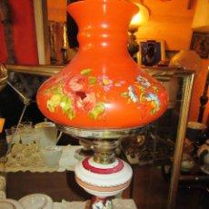 Antigüedades: QUINQUÉ DE OPALINA, SIN TULIPA. Lote 82488948