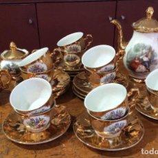 Antigüedades: JUEGO DE CAFÉ DE LIMOGES ANTIGUO. Lote 82490856