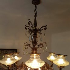 Antigüedades: LAMPARA BRONCE. Lote 82491148