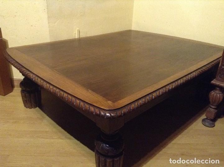BELLISIMA MESA CENTRO INGLESA MADERA NOGAL , ES ABATIBLE 130X 40 X 100 (Antigüedades - Muebles Antiguos - Mesas Antiguas)
