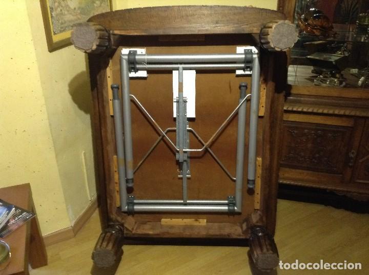 Antigüedades: BELLISIMA MESA CENTRO INGLESA MADERA NOGAL , ES ABATIBLE 130X 40 X 100 - Foto 4 - 82498824