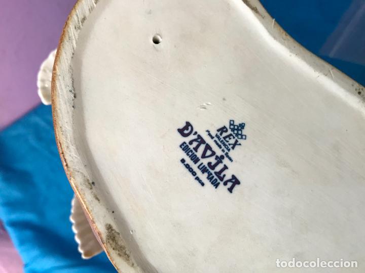 Antigüedades: Figura de porcelana Rex Davila Edicion limitada a 5000 piezas - Perfecto - Foto 8 - 82509760