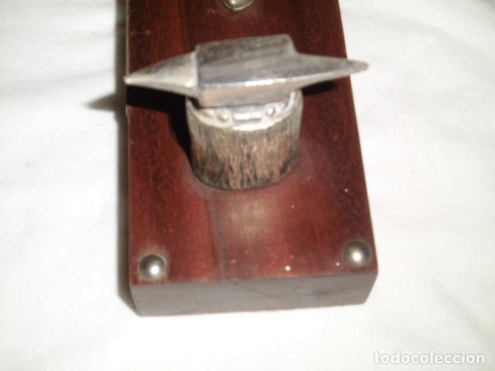 Antigüedades: SIDERURGIA INDUSTRIAS DEL BESOS S.A..FIGURA SOBRE PEDESTAL ESTAÑO CREO - Foto 9 - 82525856