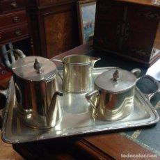 Antigüedades: JUEGO DE CAFE EN PLATA ESPAÑA LUIS ESPUÑES 1914. Lote 82617968