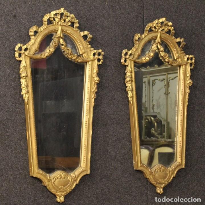 par de espejos dorados italianos antigedades muebles antiguos espejos antiguos