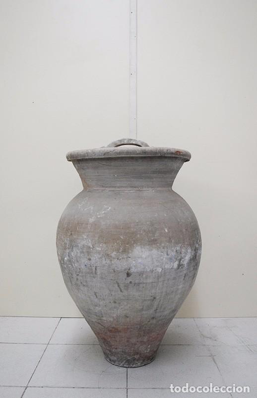 TINAJA ANTIGUA RÚSTICA DE BARRO (Antigüedades - Técnicas - Rústicas - Utensilios del Hogar)
