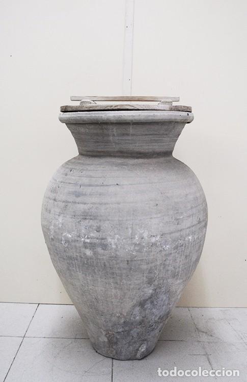 TINAJA ANTIGUA DE BARRO (Antigüedades - Técnicas - Rústicas - Utensilios del Hogar)
