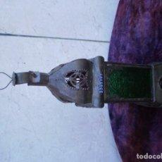 Antigüedades: FAROL DE VELA METAL. Lote 82702468