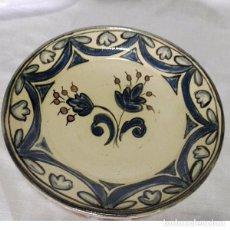 Antigüedades: PRECIOSO PLATO DECORADO CON FLORES, FIRMADO BUXÓ. Lote 82748792