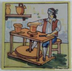 Antigüedades: AZULEJO OFICIOS - ALFARERO . AÑOS 60. Lote 82891280