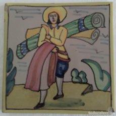 Antigüedades: AZULEJO OFICIOS - TAPICERO - AÑOS 60. Lote 82891480