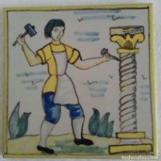 Antigüedades: AZULEJO OFICIOS - CANTERO - AÑOS 60. Lote 82892448