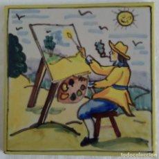 Antigüedades: AZULEJO OFICIOS - PINTOR - AÑOS 60. Lote 82892744