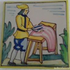 Antigüedades: AZULEJO OFICIOS - SASTRE - AÑOS 60. Lote 82892940