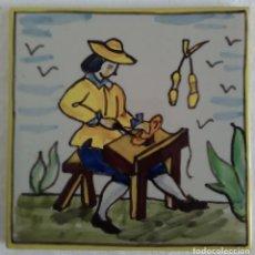 Antigüedades: AZULEJO OFICIOS -ZAPATERO - AÑOS 60. Lote 82893220