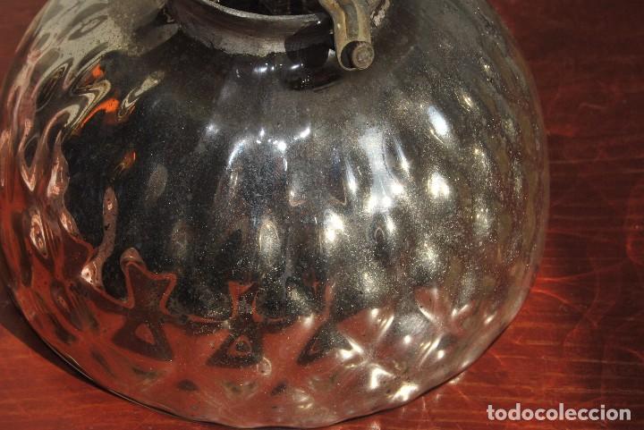 Antigüedades: LÁMPARA DE CRISTAL DE LA GRANJA - CON ESPEJO DE AZOGUE - S.XIX - Foto 6 - 82896612
