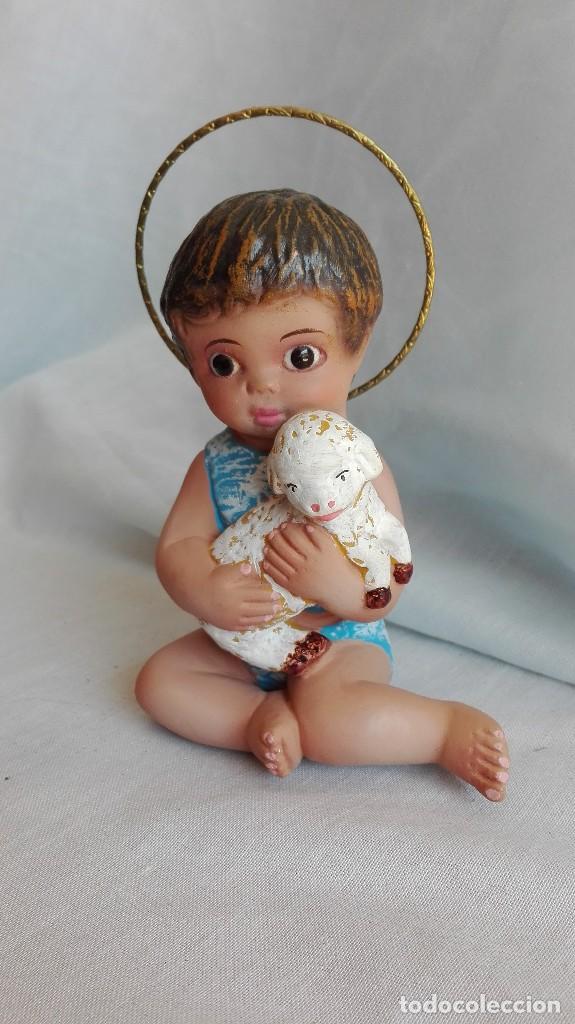 NIÑO JESUS BUEN PASTOR ANTIGUO DE OLOT (Antigüedades - Religiosas - Varios)