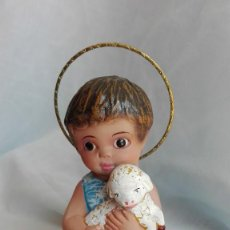 Antigüedades: NIÑO JESUS BUEN PASTOR ANTIGUO DE OLOT. Lote 82920600