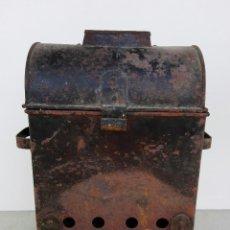 Antigüedades: ANTIGUO ASADOR DE CASTAÑAS EN HIERRO. Lote 82937464