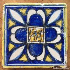 Antigüedades: AZULEJO VALENCIANO DEL SIGLO XVII RENACENTISTA. Lote 82949483
