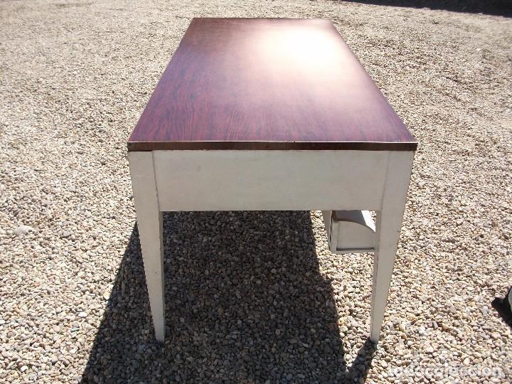Antigüedades: Mesa grande de cocina 0 plancha antigua tablero chapa de formica 172 X 80 altura 77 cm. 2 cajones - Foto 2 - 82981804
