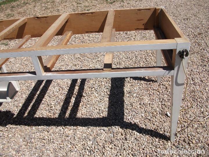 Antigüedades: Mesa grande de cocina 0 plancha antigua tablero chapa de formica 172 X 80 altura 77 cm. 2 cajones - Foto 8 - 82981804