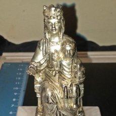 Antiquitäten - Figura Ntra Sra. de LEYRE metal color plateado en base de granito - 82987824
