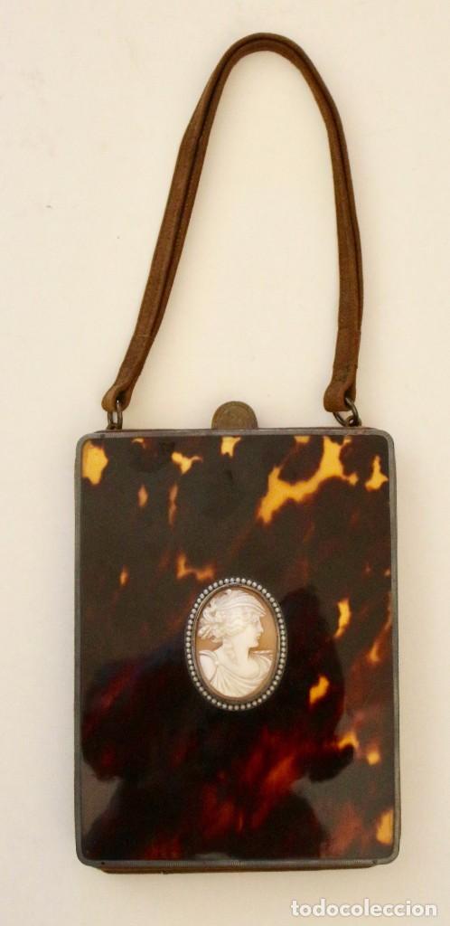 CARTERA DEL SIGLO XIX, CAREY CON CAMAFEO 15 X 11 CM (Antigüedades - Moda y Complementos - Mujer)