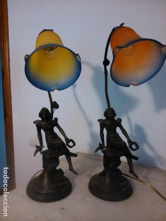 Antigüedades: Pareja lámparas sobremesa - Foto 3 - 83033244