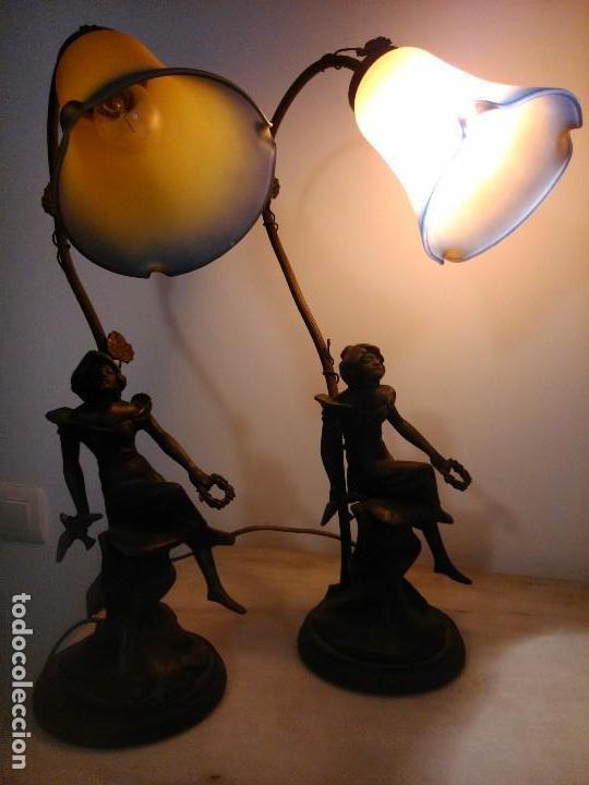 Antigüedades: Pareja lámparas sobremesa - Foto 4 - 83033244