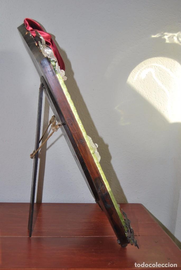 Antigüedades: PRECIOSO ESPEJO VENECIANO - ADORNOS EN CRISTAL, METAL Y TELA -MODERNISMO -ART NOUVEAU -FINALES S.XIX - Foto 24 - 83051772